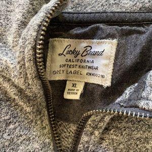 Lucky Brand. Men's quarter zip pullover.